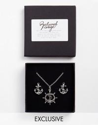 Подарочный набор с запонками и ожерельем Reclaimed Vintage
