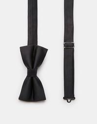 Однотонный галстук‑бабочка Noose & Monkey - Черный