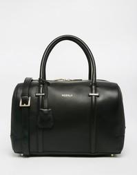 Кожаная сумка‑боулер Modalu - Черный