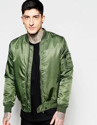 Куртка-пилот Brave Soul MA1 - Зеленый