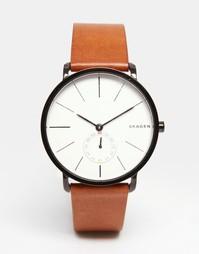 Наручные часы с кожаным коричневым ремешком Skagen Hagen SKW6216