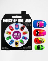 Наклейки для ногтей House Of Holland By Elegant Touch - Мозговые монст