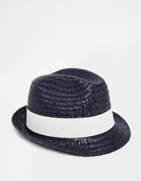 Соломенная шляпа Catarzi - Темно-синий