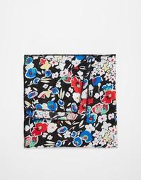 Платок для нагрудного кармана с цветочным принтом Reclaimed Vintage