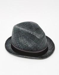 Cоломенная шляпа Paul Smith Bovens - Черный