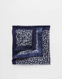 Шелковый платок-паше с лиственным принтом Ted Baker - Синий