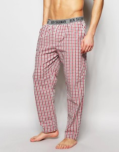 Домашние штаны в красную клетку Ben Sherman - Красный