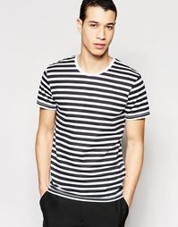 Черно-белая футболка Selected - Белый