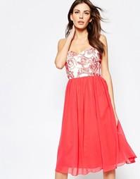 Платье для выпускного с цветочным рисунком на топе Little Mistress