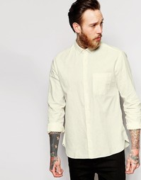 Кремовая рубашка из хлопковой смеси YMC - Кремовый