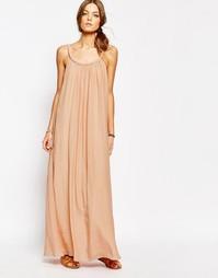 Розовое платье макси Suncoo - 05 телесный