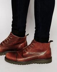Ботинки средней высоты на шнуровке Walk London - Рыжий