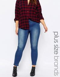Зауженные выбеленные джинсы Junarose - Синий