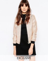 Куртка-пилот цвета розового золота Helene Berman - Peach