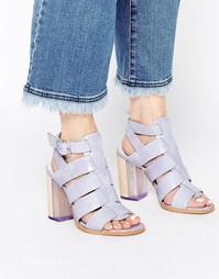 Кожаные сандалии на каблуке с ремешками Miista Isabella - Лаванда
