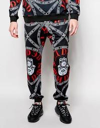 Красные спортивные брюки Jaded London Evil Eye - Черный