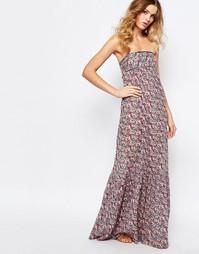 Платье макси с открытой спиной BA&SH Emelle - Розовый пр. Ba&;Sh