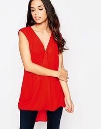 Топ с V-образным вырезом без рукавов Glamorous - Красный
