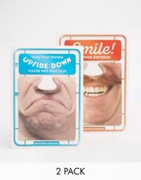 Комплект из 2 поздравительных открыток на день рождения Brainbox Candy Gifts