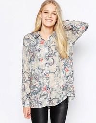 Oversize-рубашка с принтом Only Radmila - Pumice stone aop pai
