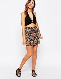 Мини-юбка с принтом Glamorous