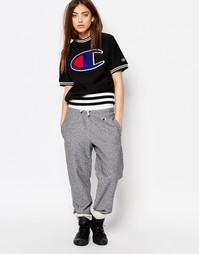 Классические спортивные брюки изнаночного плетения Champion - Черный