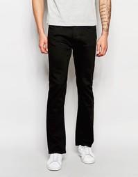 Черные узкие джинсы с легким клешем Lee Trenton - Чистый черный