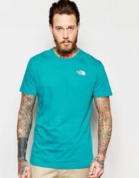 Футболка с логотипом на груди The North Face - Сине-зеленый
