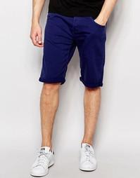 Хлопковые шорты морского синего цвета Wrangler - Синий морской