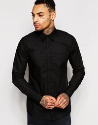 Эксклюзивная зауженная рубашка стретч Rogues Of London - Черный