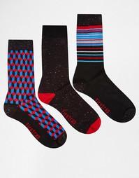3 пары строгих носков с непсами Firetrap - Синий