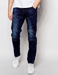 Зауженные джинсы G-Star 5620 3D - Темный состаренный