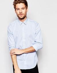 Однотонная оксфордская рубашка с длинными рукавами Esprit - Синий