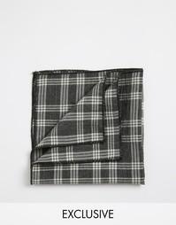 Платок для пиджака в клетку Reclaimed Vintage - Серый