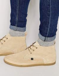 Высокие ботинки чукка Farah Drape - Бежевый