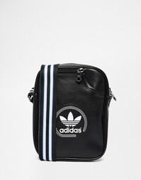 Сумка для авиаперелетов с перфорацией adidas Originals - Черный