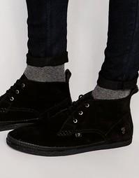 Высокие ботинки чукка Farah Drape - Черный