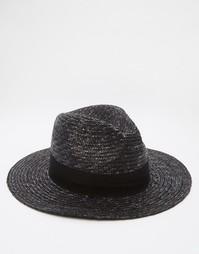 Мягкая соломенная шляпа черного цвета ASOS - Черный