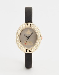 Часы на кожаном ремешке Vivienne Westwood Mini VV005SMBK - Черный