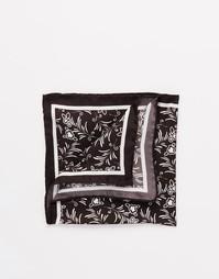 Платок-паше из итальянского шелка Noose & Monkey - Черный
