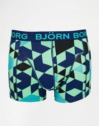 Боксеры-брифы с принтом Bjorn Borg - Зеленый