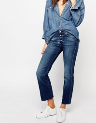 Укороченные джинсы с легким клешем и необработанными краями 7 For All