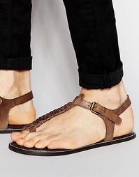 Коричневые сандалии из плетеной кожи ASOS - Коричневый