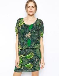 Платье с короткими рукавами и принтом Selected Filicia - Принт