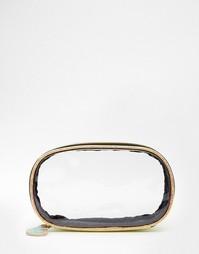 Прозрачная косметичка с металлической отделкой ASOS - Серебряный