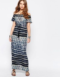 Платье макси в полоску Stevie May Water - Мульти