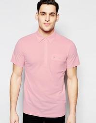 Футболка-поло классического кроя с карманом Farah - Розовый