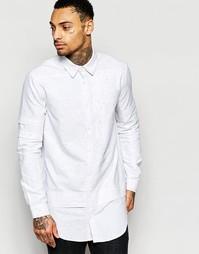 Длинная рубашка классического кроя Black Kaviar - Белый