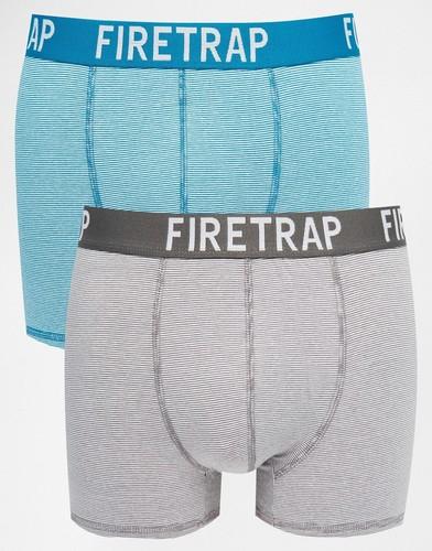 2 пары боксеров-брифов Firetrap - Серый