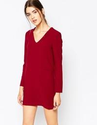 Цельнокройное платье с карманами See U Soon - Wine